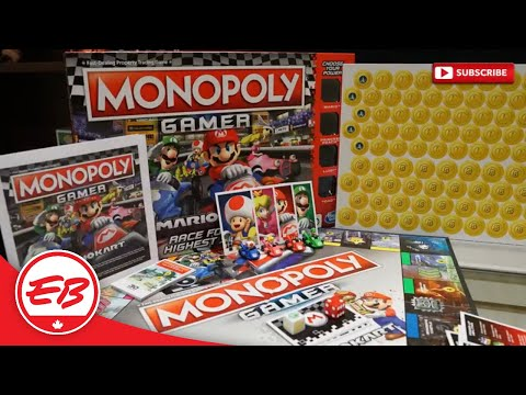 First to Market! Monopoly (Mario Kart) Gamer Edition | EB Unboxes