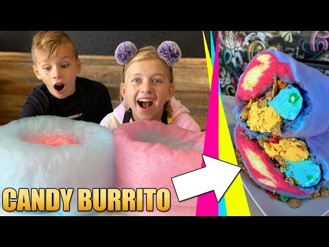 Behind The Scenes: How To Make Cotton Candy Burrito - Creamberry Las Vegas