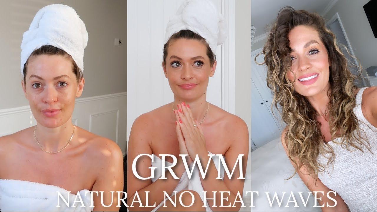 GRWM | NATURAL NO HEAT WAVES & NEW SOFA REVEAL