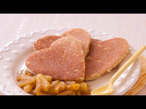 recette-:-pancakes-coeur-au-lait-d'épeautre-et-ananas-à-la-vanille-–-saint-valentin