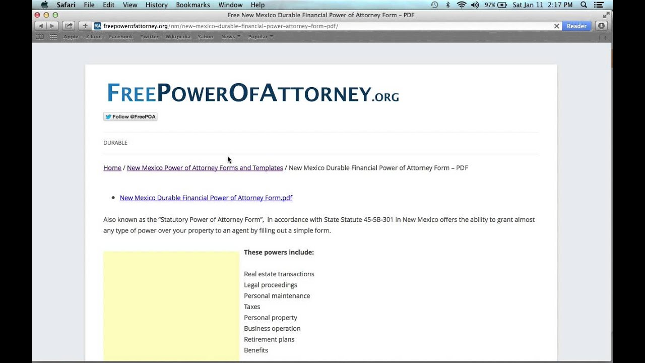 How to fill out a new mexico power of attorney form youtube how to fill out a new mexico power of attorney form falaconquin