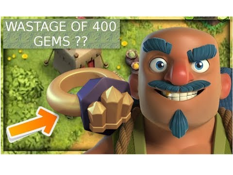 buying wall ring clash of clans using 400 gems ,is its worth of buying??