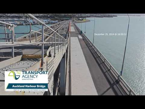 Auckland Harbour Bridge reseal, southern view HD