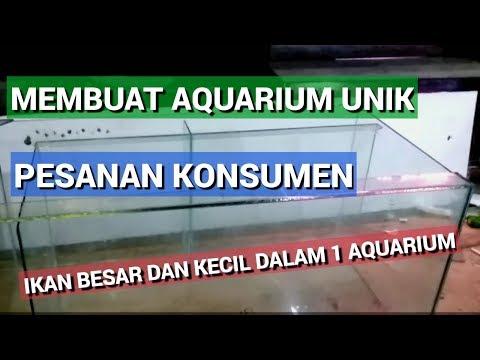 Aquarium Unik lengkap dengan sump filter