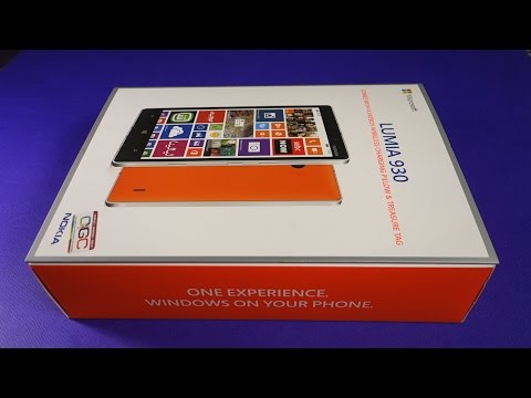 Unboxing Nokia Lumia 930 and Initial Setup
