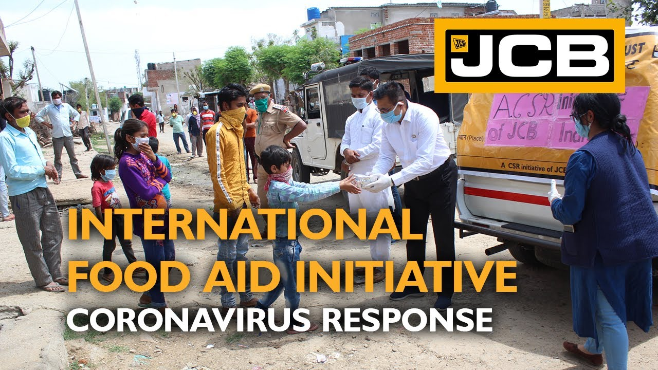 JCB Food Aid in UK and India as Coronavirus Response