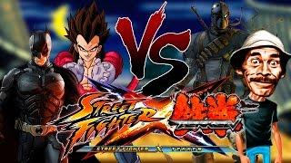 Street Fighter x Tekken –Batman e Vegeta x Seu Madruga e Deathstroke MOD