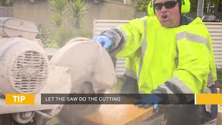 How to cut pavers