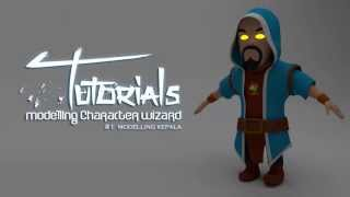 Modelling Character WIZARD (Clash Of Clans) Di Blender #1 modelling kepala