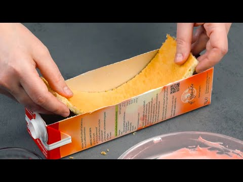 coupez-un-côté-de-la-brique-et-remplissez-la-couche-par-couche-|-délicieux-dessert-aux-framboises