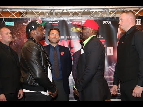 Dillian Whyte vs Dereck Chisora rematch launch press conference