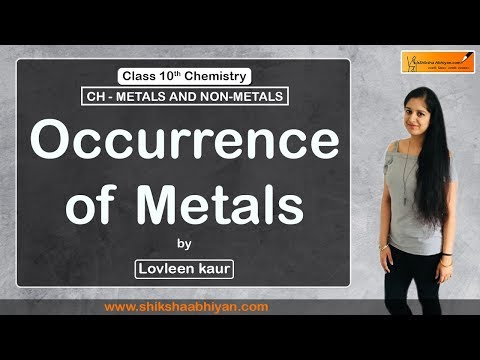 Occurrence of Metals