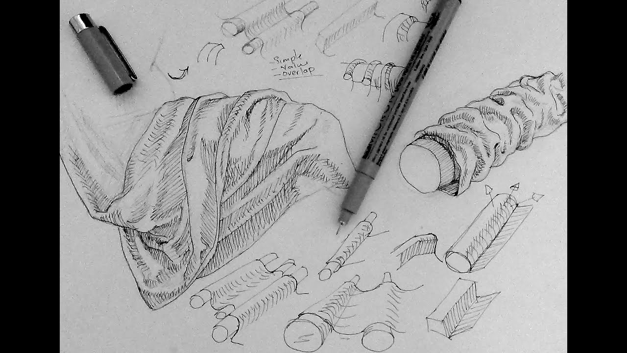 pen and ink drawing tutorials how to draw drapery and clothing