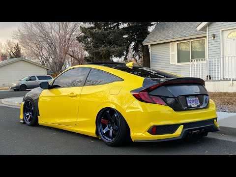 Seibon cf trunk install on 10th gen civic coupe!