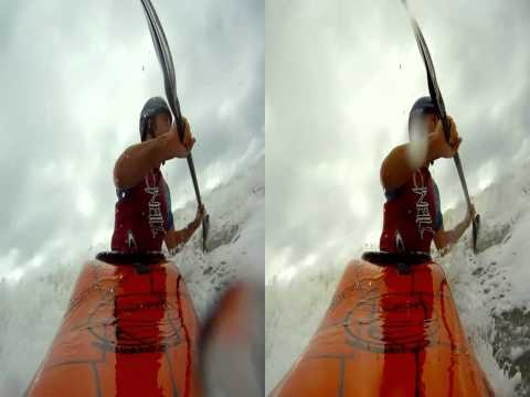 Kayak surfing in 3D - direct from GoPro Cineform Studio