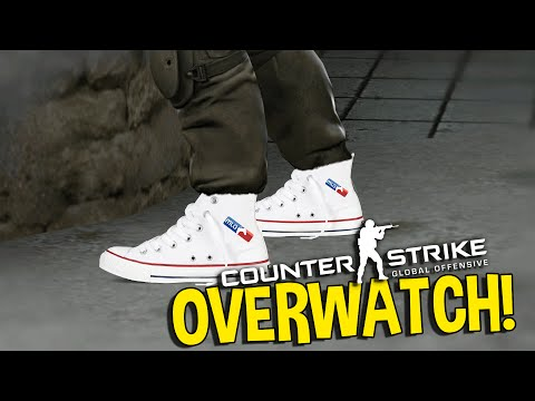CS:GO WALL HACKER OR GAMING SHOES (OVERWATCH FUNNY MOMENTS)