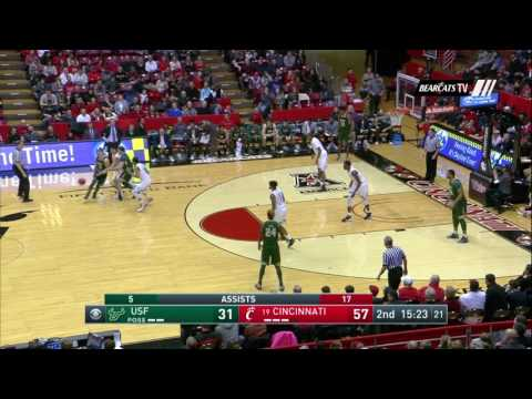 Men's Basketbal Highlights: Cincinnati 94, USF 53 (Courtesy CBS Sports Network)