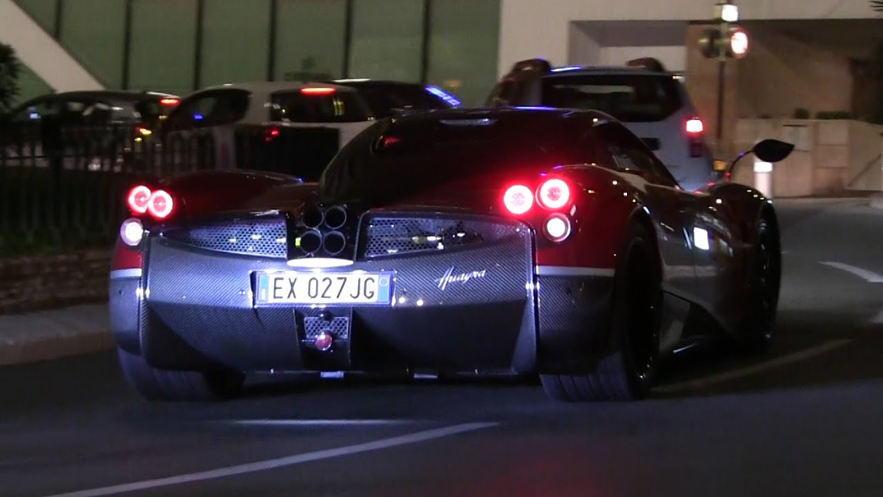 pagani huayra from transformers 4 in monaco | epic accelerations