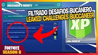 FILTRATED: All BOTIN Challenges OF BUCANERO Fortnite Season 8