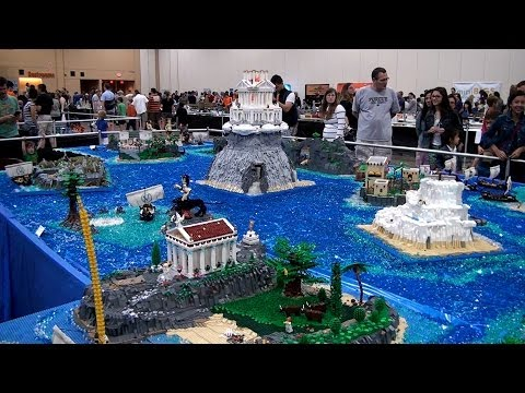 Massive Homer's Odyssey in LEGO - Brickworld Chicago 2014