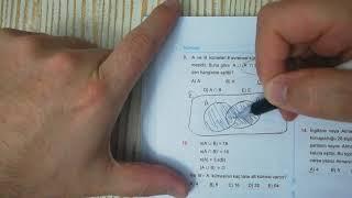 Kümeler Test 1 Esen TYT Matematik Mavi Seri Açıklamalı Çözümleri