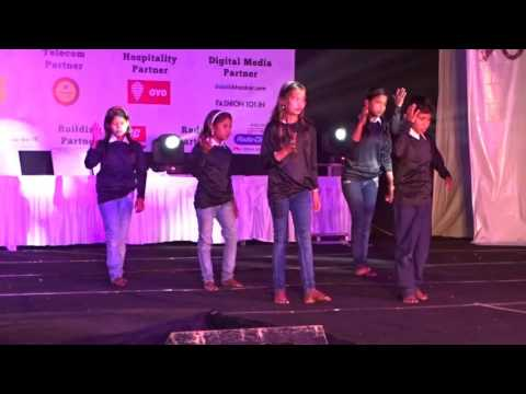 Group dance on bhagwan hai khan re tu by our student (slum children )prepared by rohit rawat