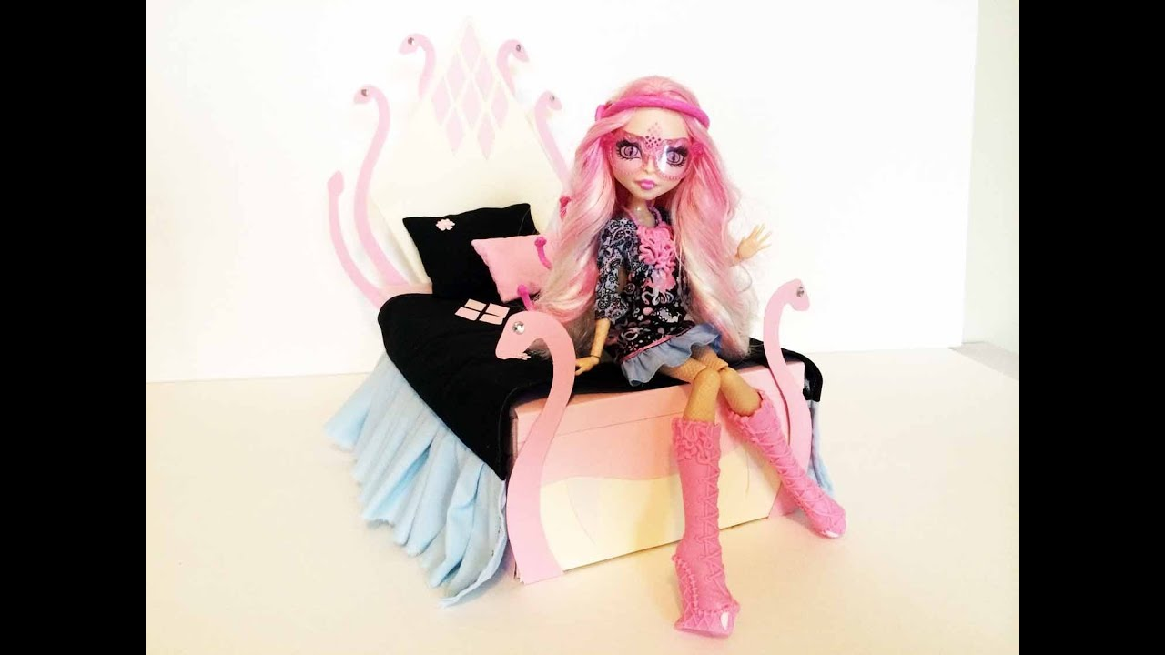 how to make a viperine gorgon doll bed tutorial monster high youtube. Black Bedroom Furniture Sets. Home Design Ideas