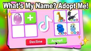 What's My Name?! Adopt Me TikTok Compilation!