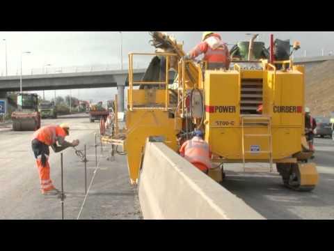 Slipforming Central Median Barrier On N7