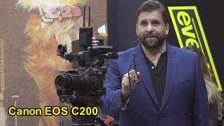 Philip Bloom DoP talks about AUTOFOCUS  at BVE Excel London 2019 using Canon C200