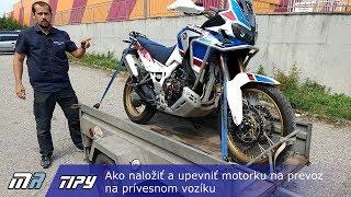 MR Tipy: Ako naložiť a upevniť motorku na prevoz na prívesnom vozíku - motoride.sk