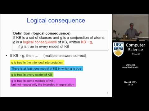 Lecture 23 | Logic 3: Bottom-up and Top-down Proof Procedures