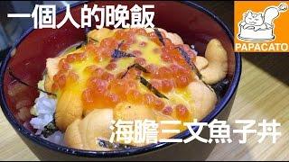 一個人的晚餐【海膽三文魚子丼】