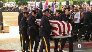 An Honor Guard Ceremony was given to Officer Michael Krol, killed l...