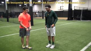"Run A Faster ""60 Yard Sprint"" Time For Baseball Players"