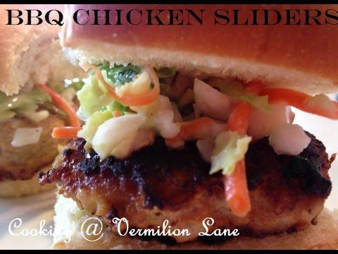 Chicken Sliders with Jicama Apple Slaw