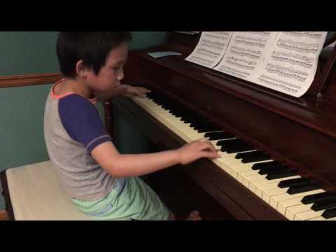 Canon Rock, Piano by Pachelbel- Takushi Koyama Edition -Not Jerry C; 6 year old Eddison