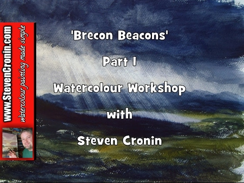 Watercolour Painting Tutorial 'Brecon Beacons' Part 1