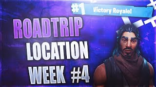 Secret Week 4 Battlestar location! (Roadtrip #4) Fortnite Week 4 Challenges Season 5