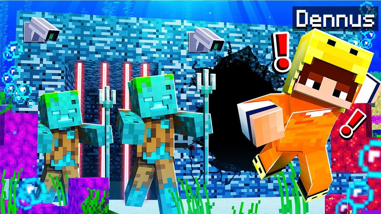 Download ONTSNAPPEN Uit Een ONDERWATER GEVANGENIS In Minecraft!
