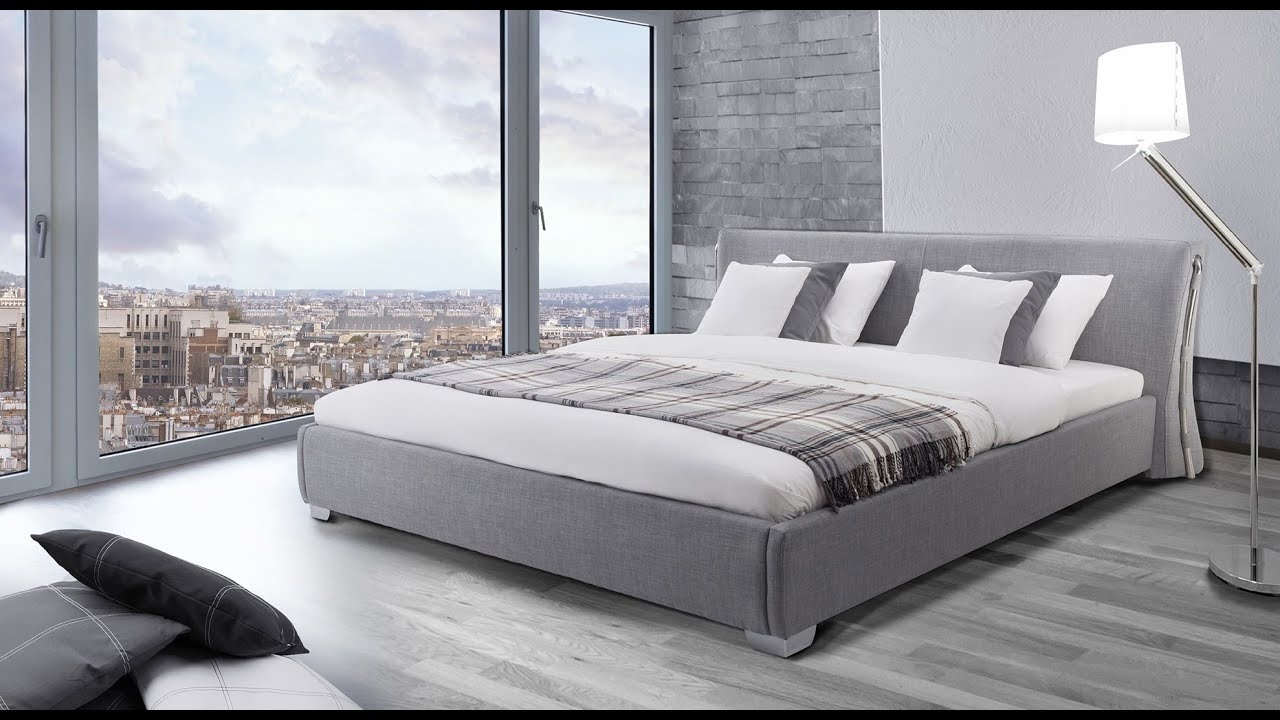 beliani water bed super king size full set paris grey eng