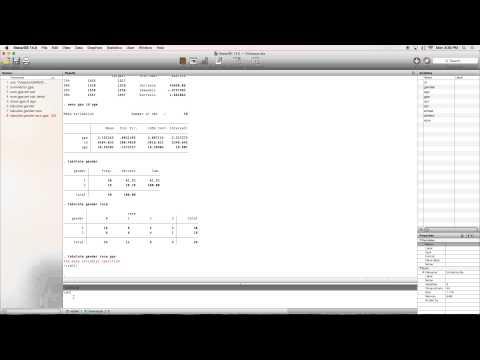 Descriptive Statistics in Stata