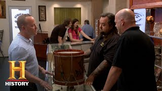 Pawn Stars: Tough Negotiation for a Vintage Eagle Drum (Season 12) | History