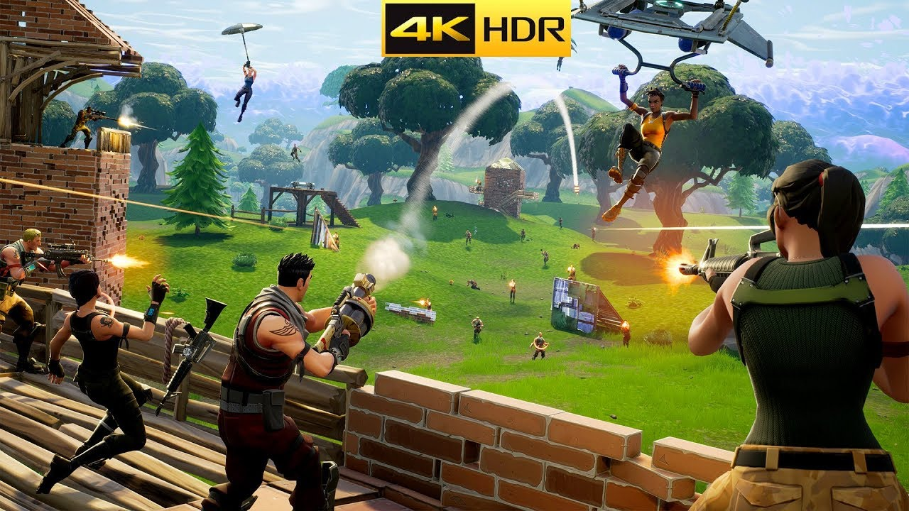 FORTNITE 4K HDR Gameplay Max Graphics PC YouTube