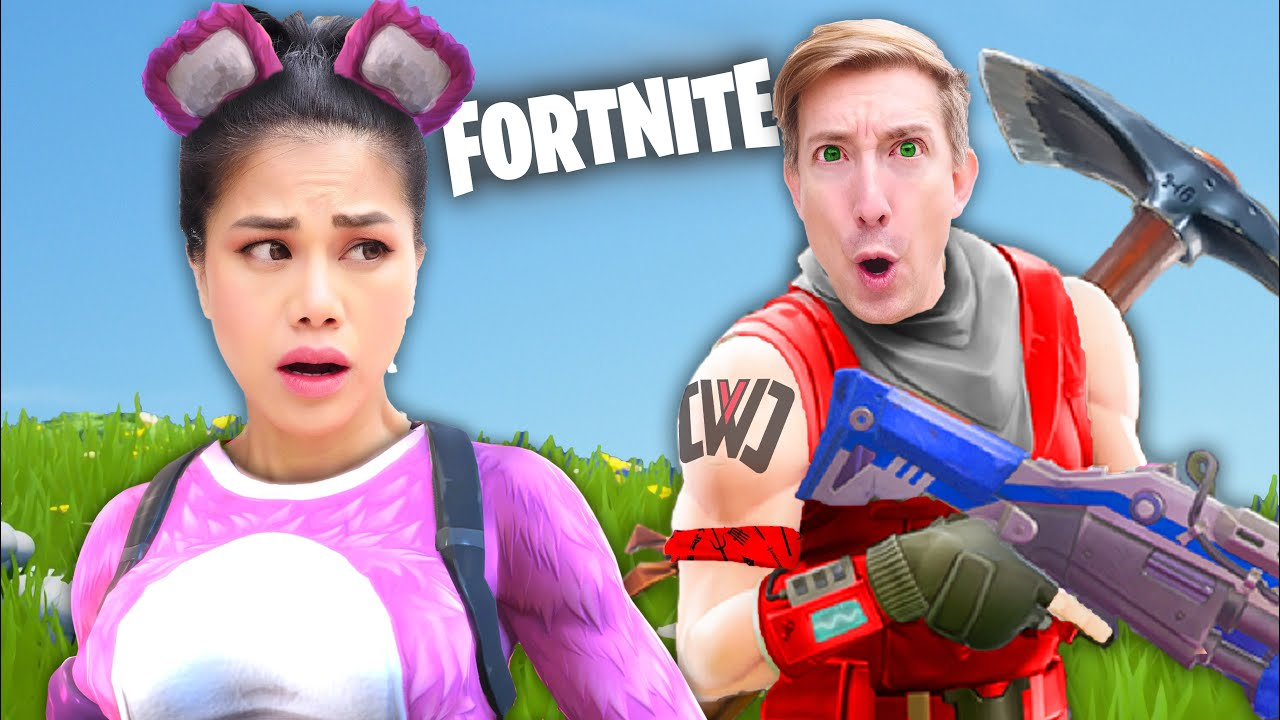 FORTNITE vs SPY NINJAS in New Battle Royale Epic Gaming Event & Funny CWC Vy Qwaint Meme Challen