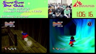 Quest 64 :: SPEED RUN Race [N64] in 2:13:20 #SGDQ 2013 ft. KirkQ & Peaches