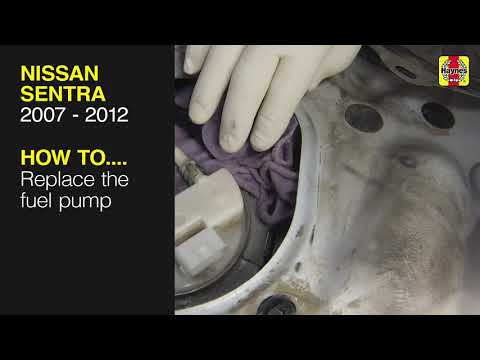 How to replace the fuel pump on a Nissan Sentra 2007 to 2012