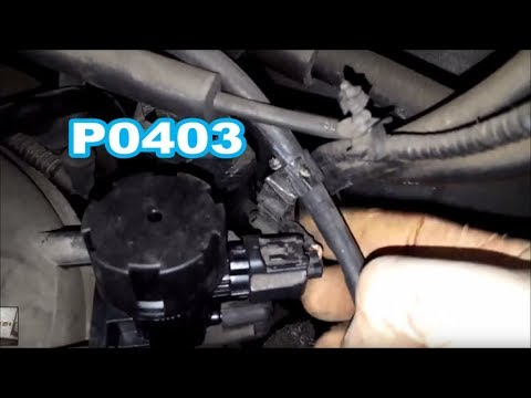 Mazda Tribute P0403 EGR Ford Escape broken wire on solenoid harness