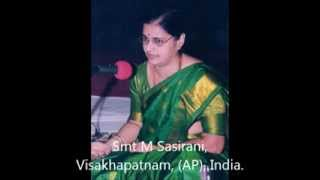 Aparaadhamulanniyu - Smt. M Sasirani presents Carnatic Classical - Vocal