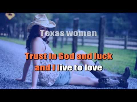 Hank Williams Jr Texas Women Karaoke Instrumental